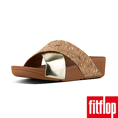 FitFlop LULU CROSS SLIDE SANDALS軟木/金