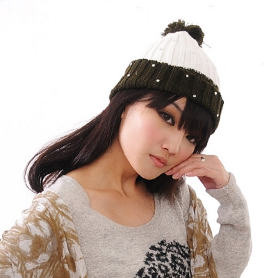 Aimee Toff 雙色歡慶可愛造型毛帽(綠)