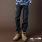 BIG TRAIN-潮洗燙片小直筒褲-鐵灰