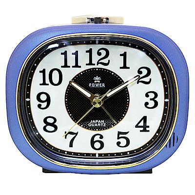 POWER霸王鐘錶-復古鬧鐘-寶藍色PA626B-12CM