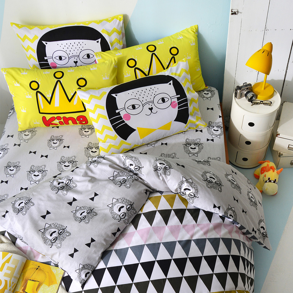 英國Abelia 摩登普普 加大四件式被套床包組