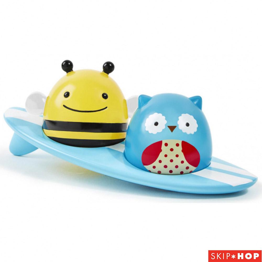 Skip Hop 蜜蜂貓頭鷹水上發光衝浪者洗澡玩具