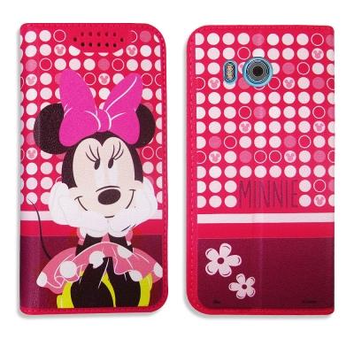 迪士尼正版授權 HTC U11 普普風彩繪手機皮套(米妮)