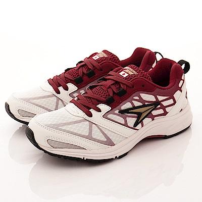 日本瞬足羽量競速童鞋 彈力運動款 0081W白(大童段)T2