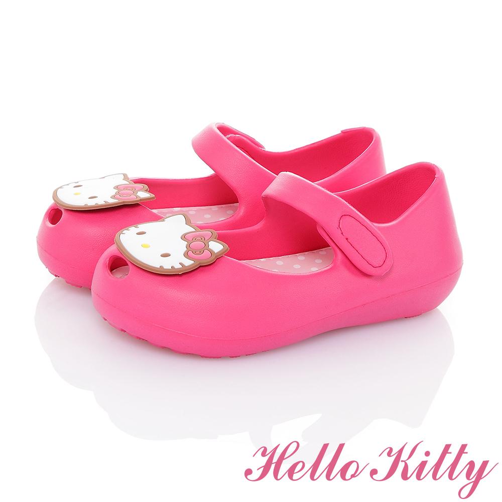 HelloKitty童鞋 極輕量Q彈魚口娃娃鞋-桃