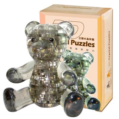 甜蜜小熊-黑色 3D Crystal Puzzles 立體水晶拼圖(8cm系列-41片)