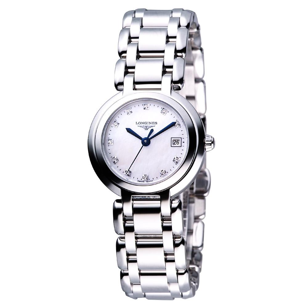 LONGINES PrimaLuna 新月系列水舞真鑽時刻錶-27mm