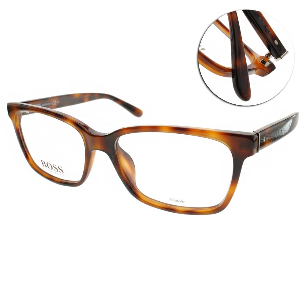 HUGO BOSS眼鏡 時尚經典/琥珀#HB0789 05L