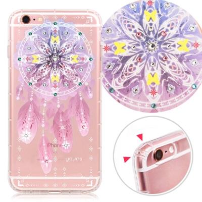 YOURS APPLE iPhone 6s+ 奧地利水晶彩繪防摔貼鑽手機殼-夢網