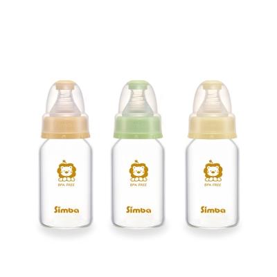 小獅王辛巴 超輕鑽標準玻璃小奶瓶3支組(120ml)