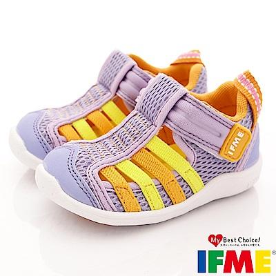 IFME健康機能鞋 透氣排水鞋款 EI00477淺紫 (寶寶段)