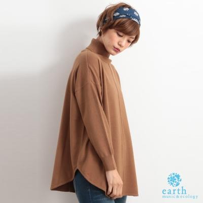 earth-music-素色高領落肩針織上衣