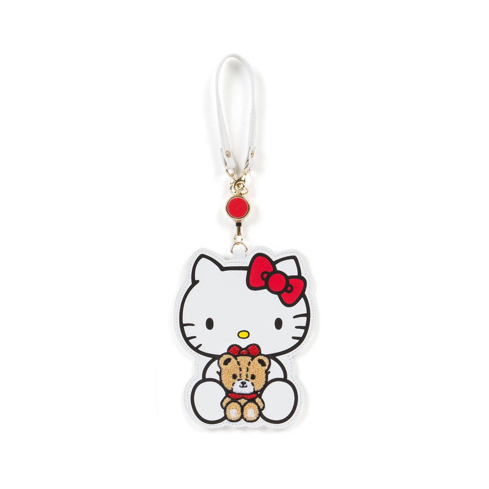 Sanrio HELLO KITTY PU皮革造型拉繩伸縮車票套(TINY小熊)