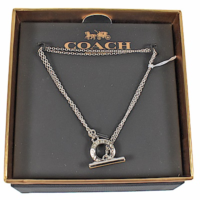 COACH 經典LOGO環裝飾手鍊(銀)