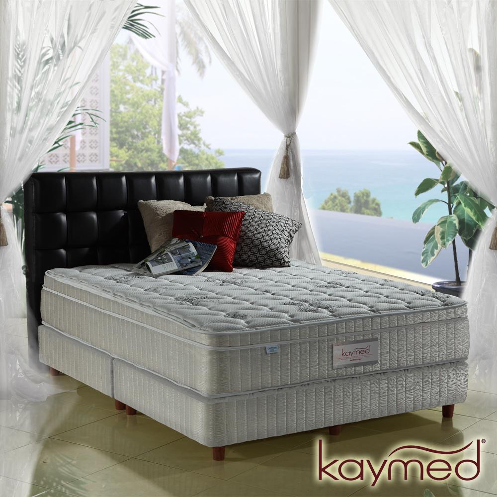 Kaymed Coolfoam自然感 三線加高澎度免翻面乳膠+記憶膠彈簧床墊 雙人加大6尺