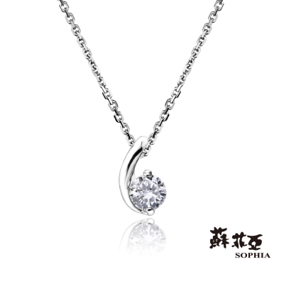 蘇菲亞SOPHIA-鑽鍊-小寶貝0-17克拉鑽石項