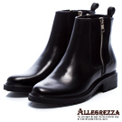 ALLEGREZZA‧率性風格真皮女靴 黑