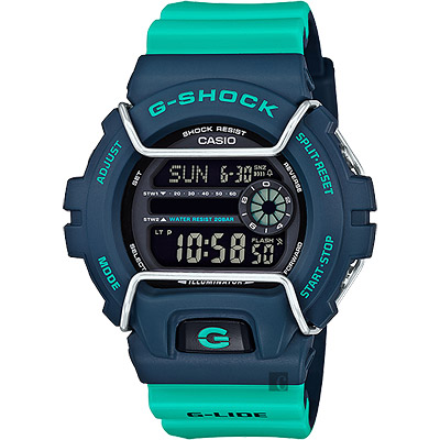 CASIO卡西歐G-SHOCK抗寒極限腕錶-綠53mm