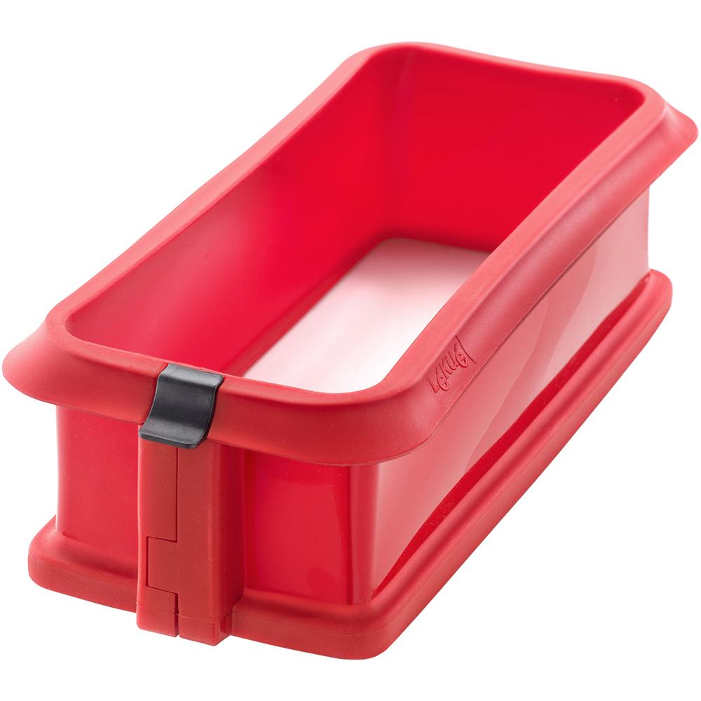 LEKUE 長蛋糕環+瓷盤(紅24cm)