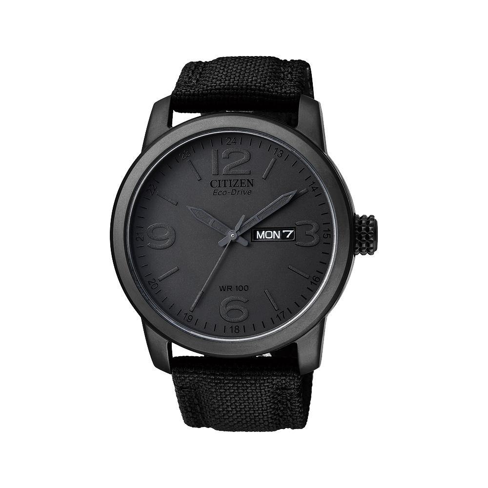 CITIZEN GENT S時尚大三針光動能腕錶(BM8475-00F)-黑/42mm