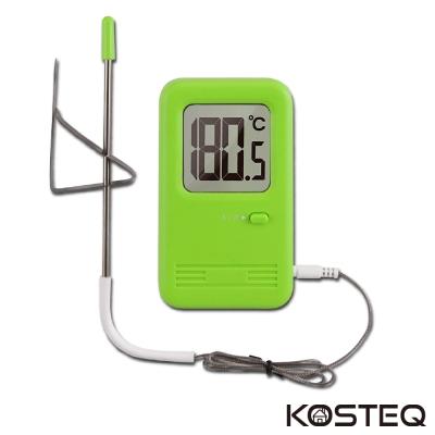 KOSTEQ 棉花糖長線型電子料理溫度計(附針夾)-蘋果綠