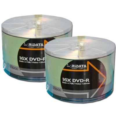 【錸德RiDATA】16X 4.7GB DVD-R 裸裝 光碟片(1束50片)