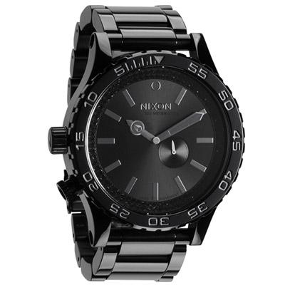 NIXON The 51-30 TIDE 風潮流轉晶鑽運動腕錶-黑/51mm