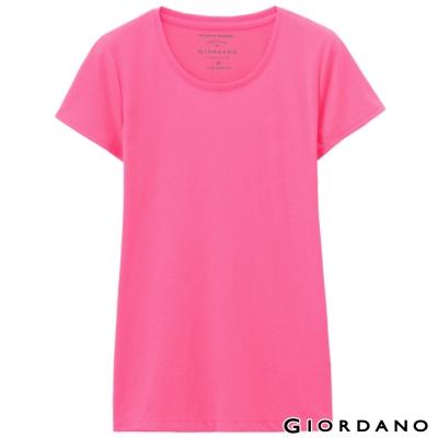 GIORDANO-女裝好感百搭圓領短袖TEE-61