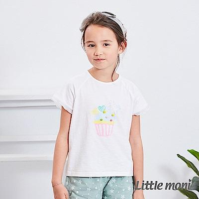 Little moni 杯子蛋糕荷葉上衣 (2色可選)