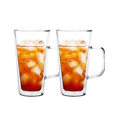 FUSHIMA富島 雙層耐熱玻璃杯500ML(把手)*2入