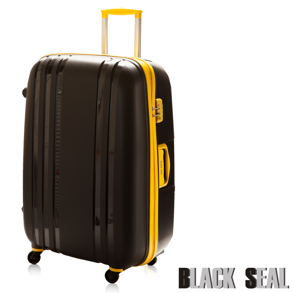 福利品 BLACK SEAL第三代 貝殼條紋箱系列26吋 TSA海關鎖 防刮PP行李箱-黑