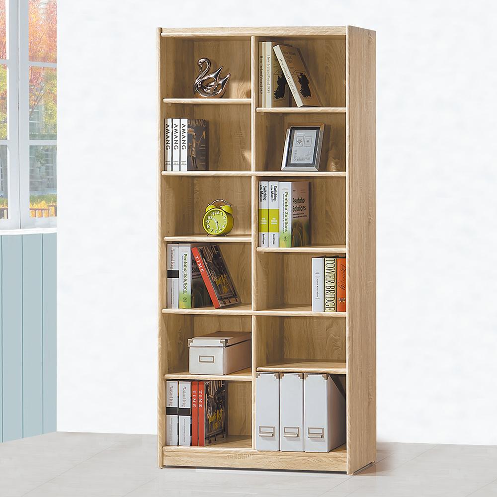Boden-泰尼2.7尺開放式12格書櫃/收納櫃-82x30x182cm