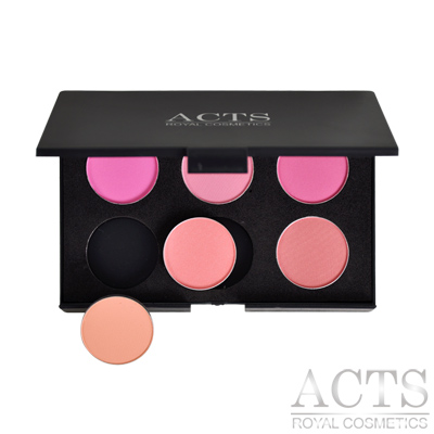 ACTS-維詩彩妝-6色DIY腮紅修容盤-自行選色搭配