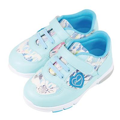 Swan天鵝童鞋-韓風蕾絲布輕量運動鞋0398-綠