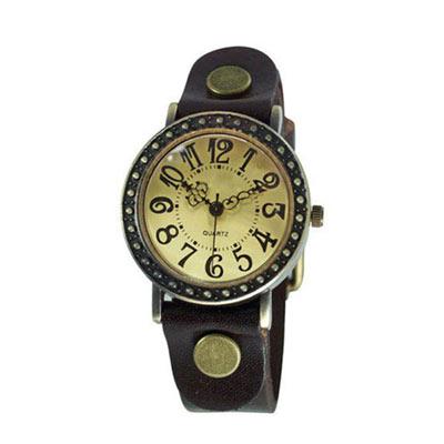 Ebusan BOBO 復古哥德式精刻中性錶-棕