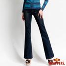 BRAPPERS 女款 新美腳二代系列-女用中腰彈性小喇叭褲-深藍