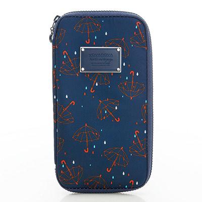 VOVAROVA空氣包-環遊世界護照夾-星光傘傘(藍)-法國設計系列