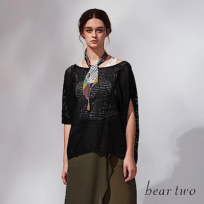 beartwo 網路獨家-兩件式洞洞造型上衣(黑色)