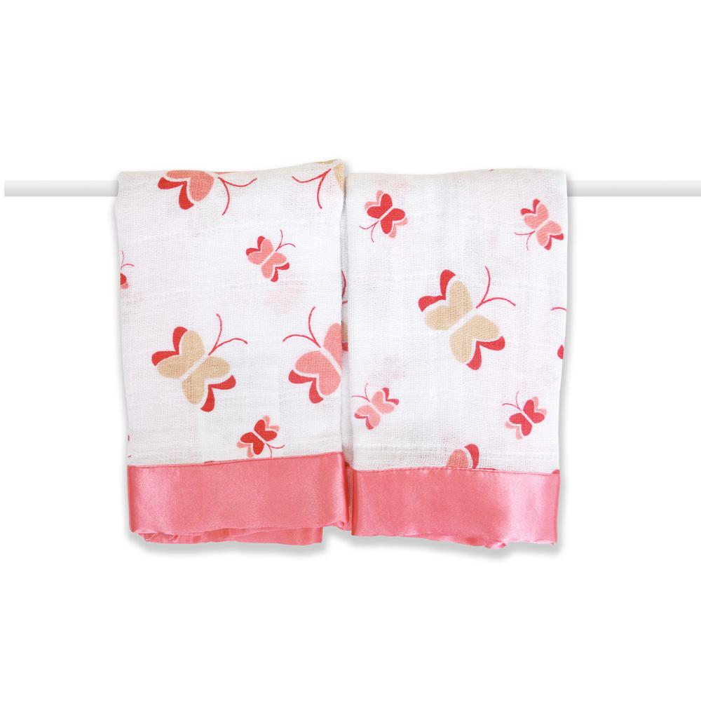 美國 aden+anais 嬰兒安撫巾 - 粉紅蝴蝶AA7500