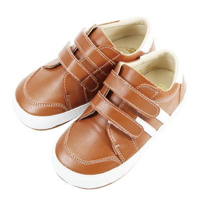 Swan天鵝童鞋-百搭皮質休閒學步鞋  1484 -咖