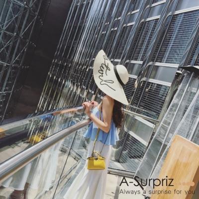 A-Surpriz  DO NOT DISTURB亮片大草帽(米白)