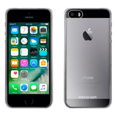 Metal-Slim Apple iPhone 5/SE 高抗刮PC透明新型保護...