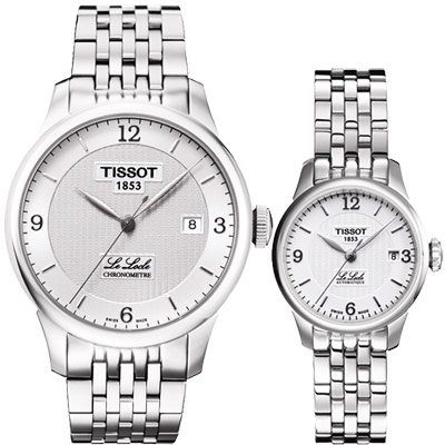 TISSOT Le Locle 經典系列機械對錶-銀