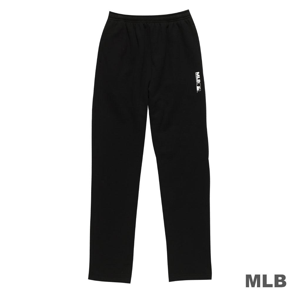 MLB-美國職棒大聯盟平口印花厚長褲-黑(男)