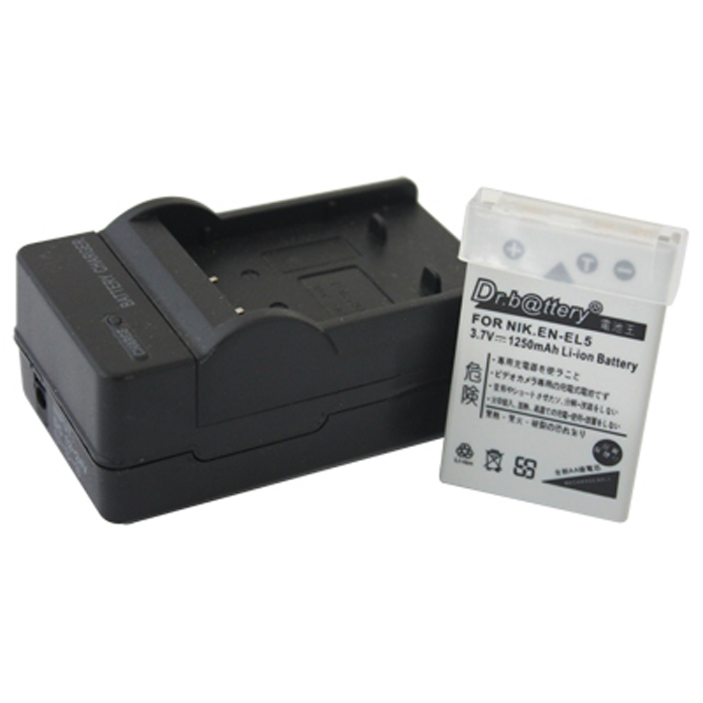 電池王 For NIKON EN-EL5 高容量鋰電池+充電器組