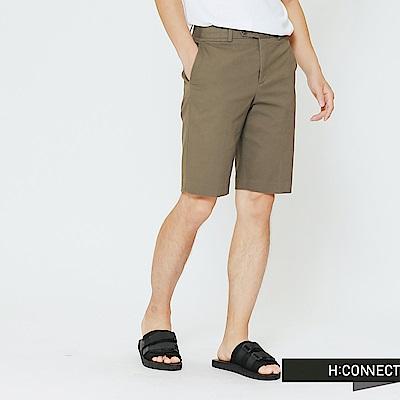 H:CONNECT 韓國品牌 男裝-簡約設計短褲-綠