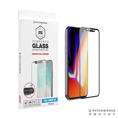 Patchworks iPhone X 3D全滿版防摔防爆玻璃保護貼