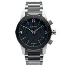 ELECTRIC FW02系列-復古強悍三眼計時腕錶-黑面x銀鋼帶/44mm
