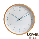 【Lovel】25cm歐風復刻原木框壁掛時鐘(W722-BL)