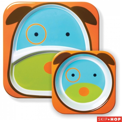 Skip Hop 聰明狗款動物兒童餐具組合
